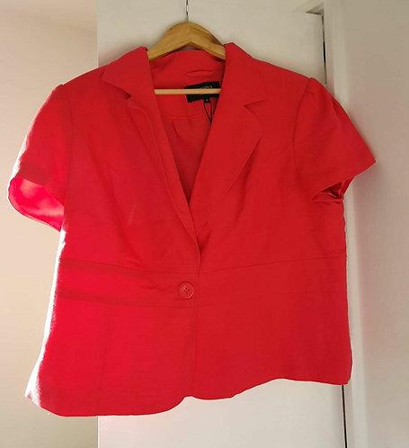 Papaya bright pink short sleeve jacket. Size 20 NWT