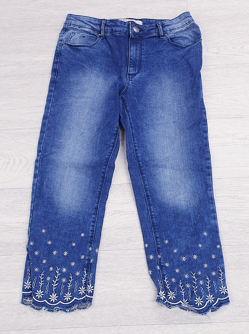 Anthology Sadie crop jeans with embroidery.  Uk 10