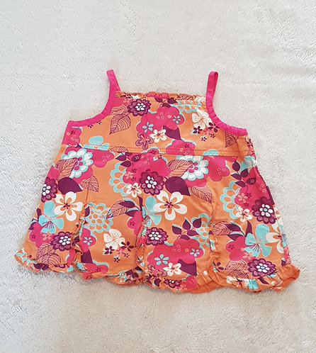 GEORGE Orange Camisole vest top 9-12m KEEP AWAY FROM FIRE
