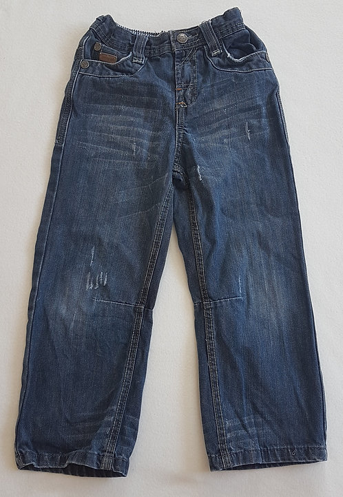 HADLEIGH. Denim distressed look jeans. Size 5-6 years. Keep away from fire.