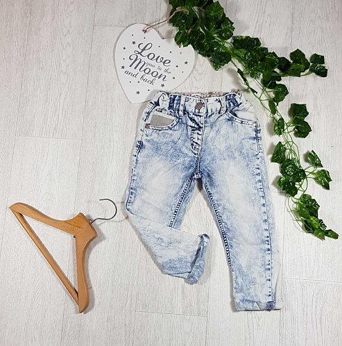 ◾Next acid wash distressed jeans. 2-3yrs