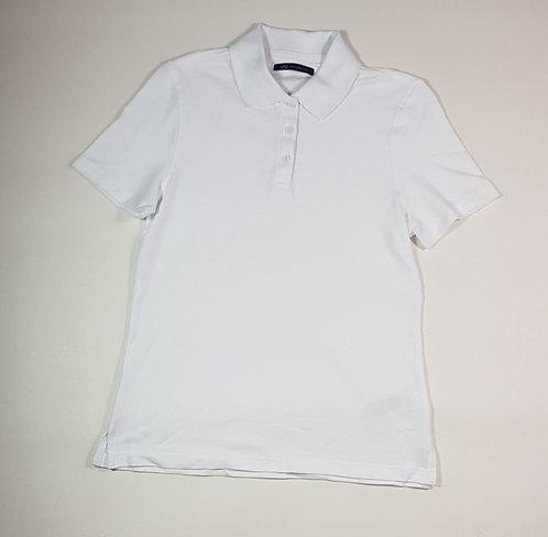M&S white polo shirt. Size 8