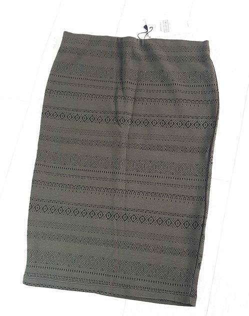 BERSHKA Khaki pencil skirt. Size L (Mex 30)