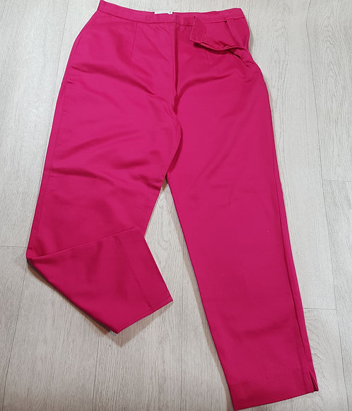🚩Look Fashion bright pink zip-up trousers size 14