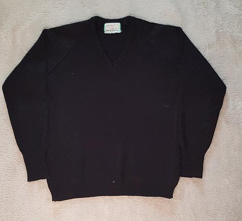 Plain black v neck school sweater. Size 32