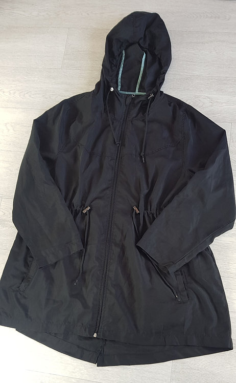 ATMOSPHERE black lightweight parker jacket. Size Large (14-16)