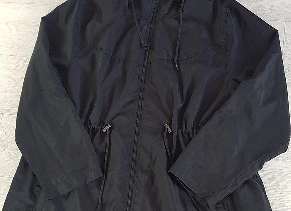 ATMOSPHERE black lightweight parker jacket. Size Large (14-16)