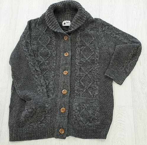 Cafii grey thick knit cardigan. Size M