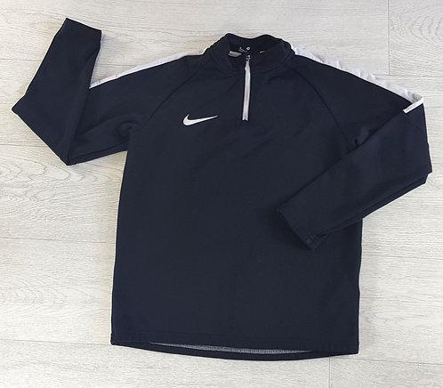 Nike Dri-Fit black zip top. Size M
