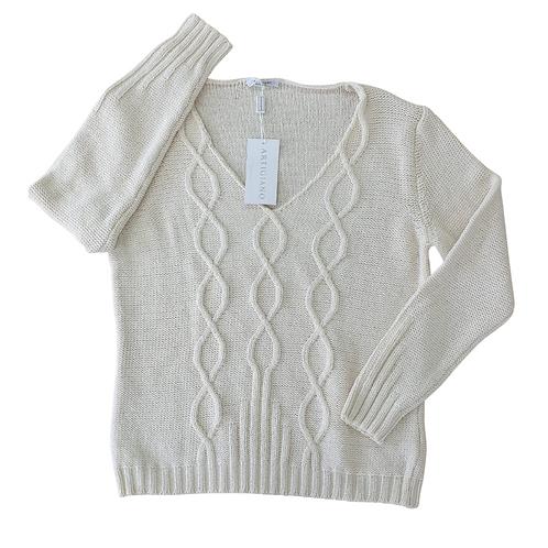 Artigiano cream knit sweater. Uk 18 NWT