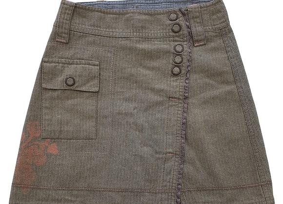 Brown mix skirt. 6yrs