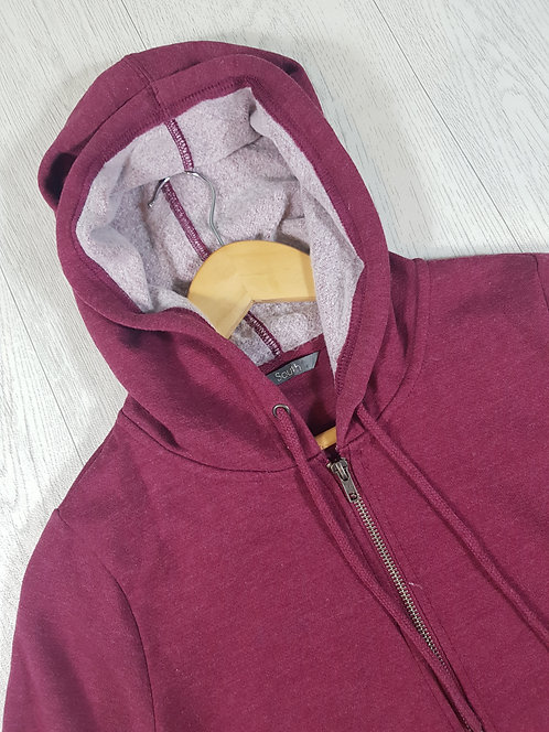✴South women's burgundy zip up hoodie size 8