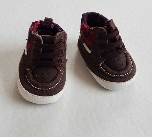 Matalan Brown soft pram shoes.