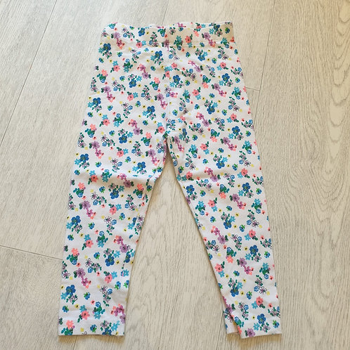 💚Next white floral leggings. 1½-2yrs