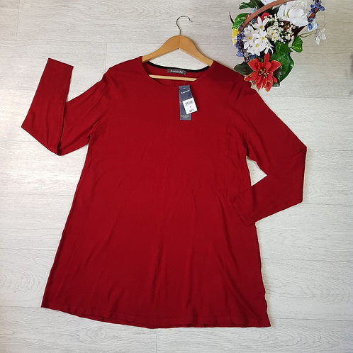 Bonmarche red long sweater. Size M NWT