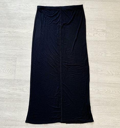 🍃George black maxi skirt. Size 12