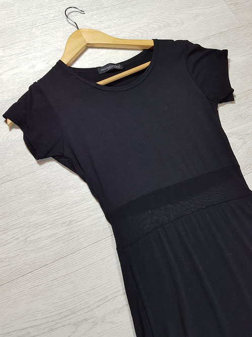 ✴Missguided black dress with mesh detail. Size 8/10