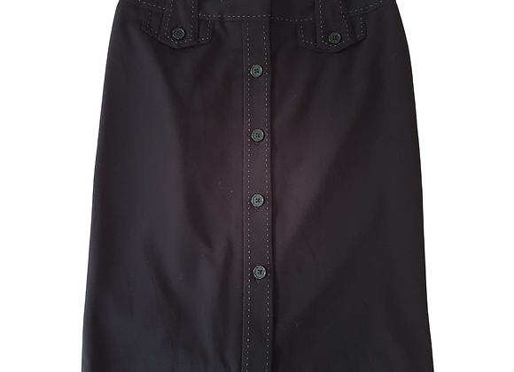 Next Black skirt with buttons down front. Uk 10 petite