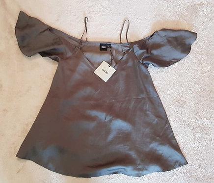 ASOS Grey lightweight shoulderless top