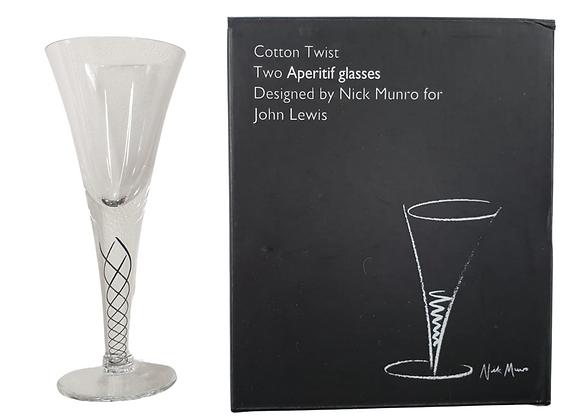 John Lewis set of 2 Apertif glasses. NWOT