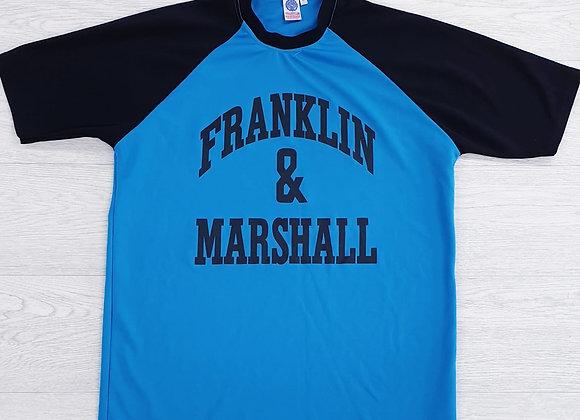 •Franklin & Marshall blue t-shirt. Size L