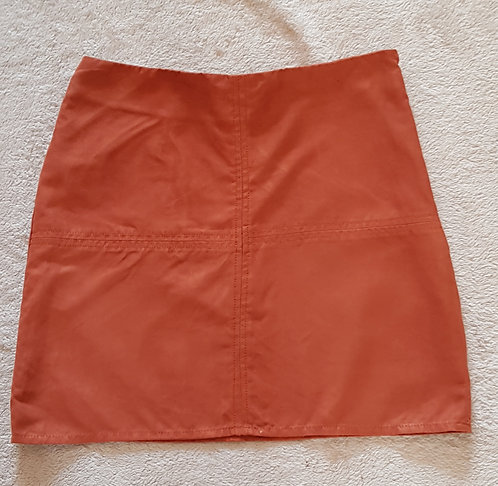 ATMOSPHERE rust coloured faux suede skirt. 100% Polyester size 8