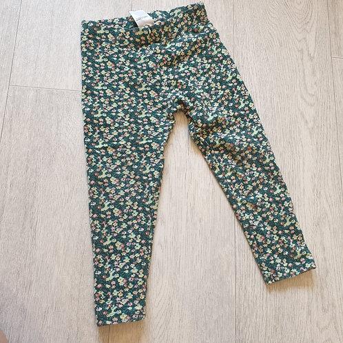💚Next green floral leggings. 2-3yrs