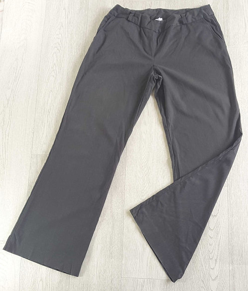 NEW LOOK Grey boot cut trousers with back pockets. Size 12