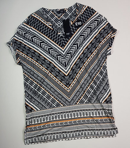 F&F patterned cold shoulder top. Size 12 (NWT)