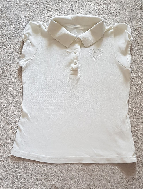 MATALAN White polo shirt Age 6-7yrs