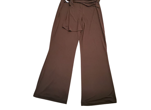 M&S Brown stretch fit boot cut trousers. Uk 16
