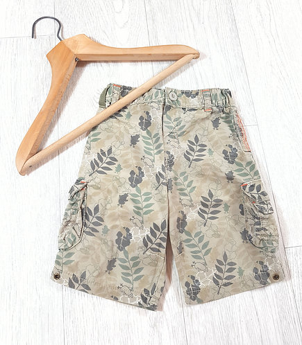 🌈Marks and Spencer's boys beige leaves and birds trousers size 12 / 18 months