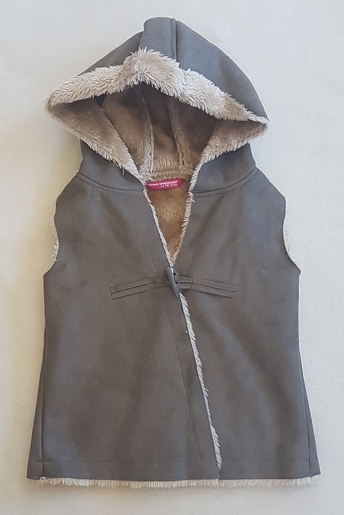 YOUNG DIMENSION. Grey gilet. 5-6 years.