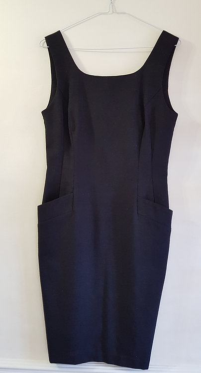 Black linen dress. Size 12