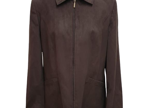 First Avenue Brown faux suede vintage jacket. Uk 16