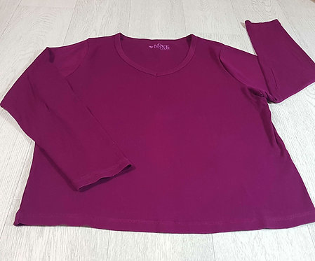 ◾Bhs purple long sleeve top. Size 20