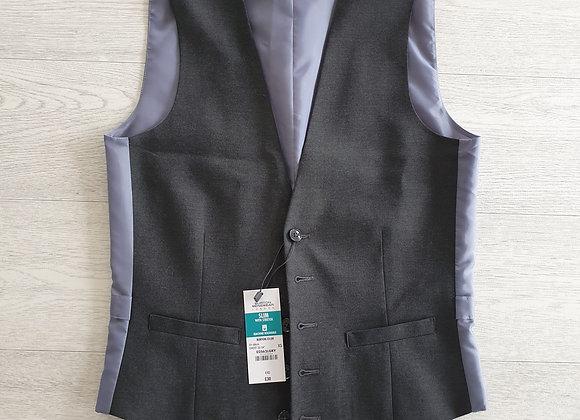 Burton grey slim waistcoat. Size XS NWT