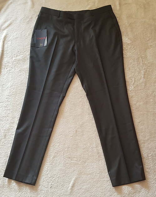 BE BERWIN Black trousers with shine. NWT 36R