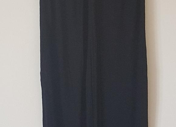 Black halter neck maxi dress. 100% viscose. Size UK small.