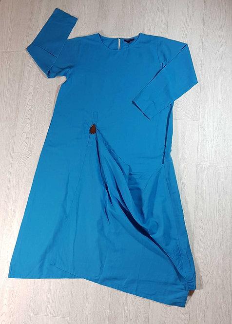 ◾Manan blue linen dress. Size S NWOT