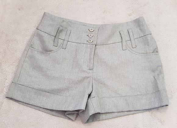 DOROTHY PERKINS Grey glitter shorts with wide belt hooks. Size 10.
