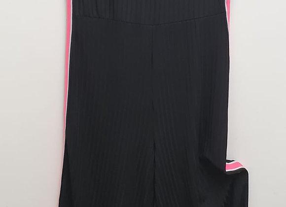 By Clara Paris. Black crop leg jumpsuit