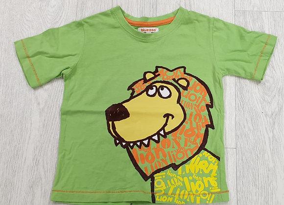 Bluezoo green lion t-shirt. 18-24m