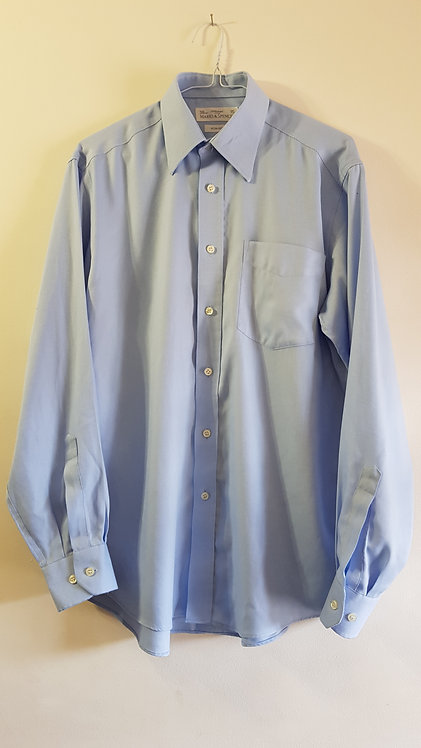 Marks and Spencer. Blue Non-Iron shirt. Size 15 /38cm.
