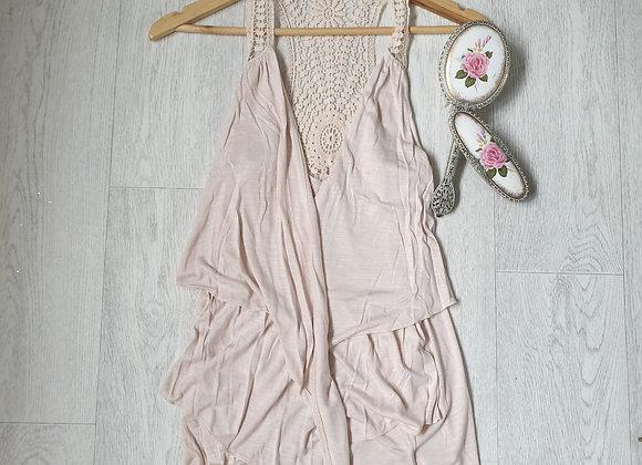 🧡ATMOSPHERE peach sleeveless cardigan.  Size 10