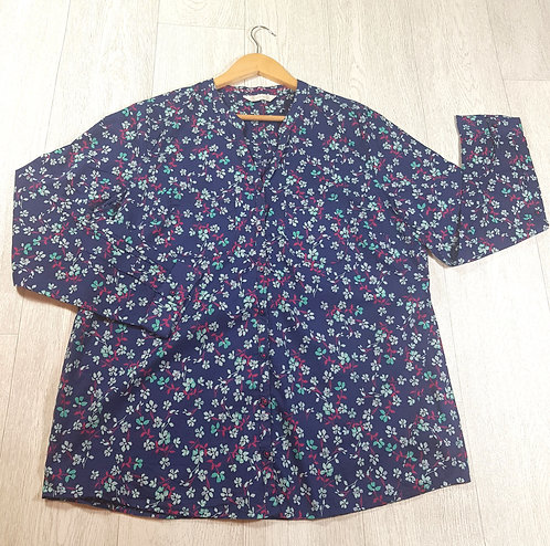 🚩BHS navy floral shirt size 18