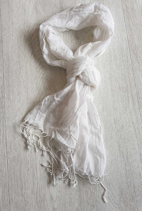 White fashion scarf