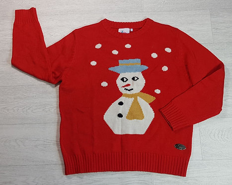 Crazy Granny red snowman Christmas jumper. Size 2 (NWOT)
