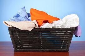 laundry basket of laundry
