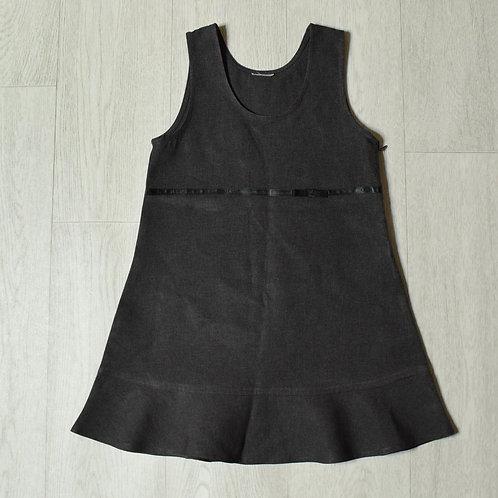 Charcoal school dress 5-6yrs